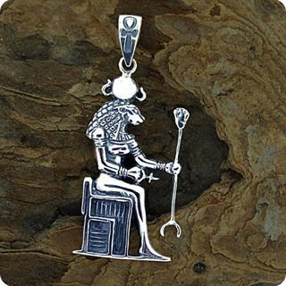 Egyptian Astrology Lion Goddess Sekhmet S925 Pendant
