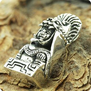 Unique Reproduction of Silver Mexico Statue Pendant