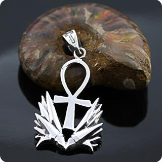 Egyptian Jewelry  ANKH Lotus Amulet Pendant