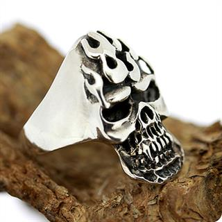 Sterling Silver Ring, Skull of Hellfire