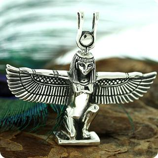 Egyptian Silver Jewelry Hathor (Sekhmet) Pendant