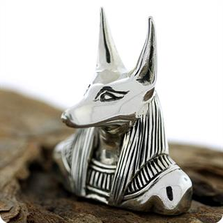 Ancient Egyptian Silver God Anubis, Lord Of The Dead,Pendant