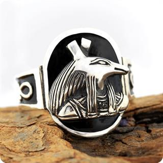 Egyptian Silver Ring, Chaos God Seth (Set)