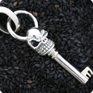 Sterling Silver Pendant Mystery Key of Skull
