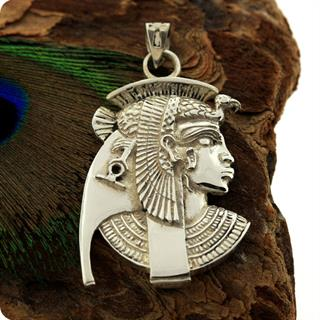Egyptian Silver Jewelry Goddess Isis Pendant