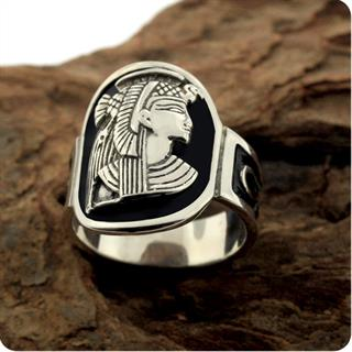 Egyptian Silver Ring,Magic Goddess Isis Ring with Ankh