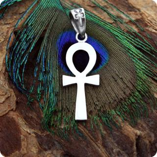 Sterling  Silver Jewelry Ankh Symbol Pendant