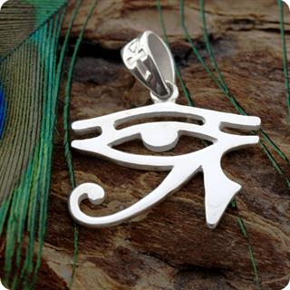 Sterling Silver Eye of Horus Protection Charm Wadjiet