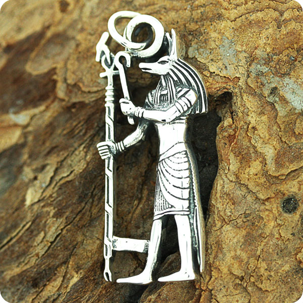 Egyptian Silver God Anubis, Lord Of The Dead,Pendant
