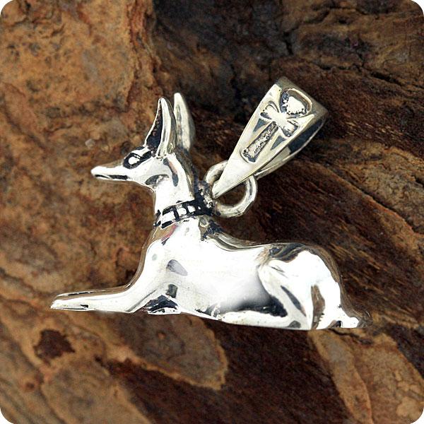 Mojoii egyptian jewelryanubisjackaldeath godegyptian zodiac egyptian silver jewelry god anubis pendant aloadofball Images