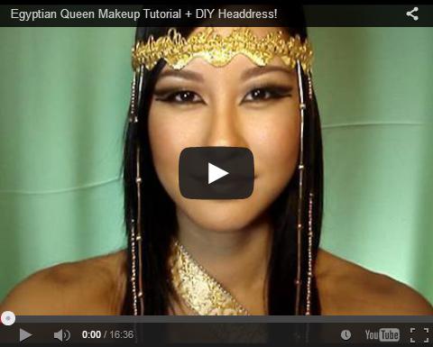 Egyptian Queen Makeup Tutorial + DIY Headdress!