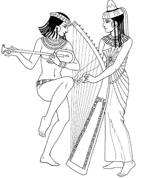 Print and Color us — Egyptian Pharaohs and Queens
